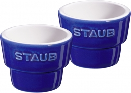 Staub Keramik Eierbecher, 12er Set Dunkelblau 5 cm