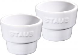 Staub Keramik Eierbecher, 12er Set Weiß 5 cm
