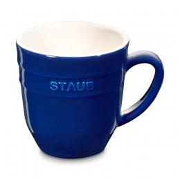 Staub Keramik 4er Set Kaffeetasse Kakaotasse Teetasse groß Tasse Dunkelblau 0,35 L