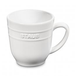 Staub Keramik 4er Set Kaffeetasse Kakaotasse Teetasse groß Tasse Weiß 0,35 L