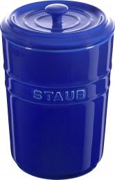 Staub Keramik 2er Set Vorratsdose Frischhaltedose Aufbewahrungsbehälter  Dunkelblau 1,5 L