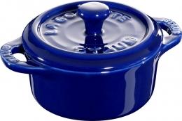 Staub Keramik 6 er Set Mini Cocotte, rund dunkelblau 10 cm Ceramic