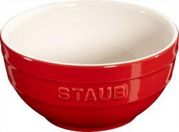 Staub Keramik 6 er Set Schale Schüssel Desertschale, klein kirschrot 12 cm Ceramic