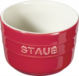 Staub Keramik 6er Set XS Mini Förmchen Ramekin Dessertschale rund Kirschrot 8 cm