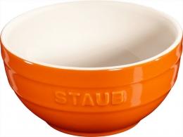 Staub Keramik 6 er Set Schale Schüssel Desertschale, klein orange 12 cm Ceramic