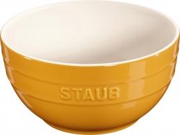 Staub Keramik 6 er Set Schale Schüssel Desertschale, groß senfgelb 17 cm Ceramic