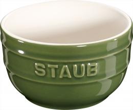 Staub Keramik 6 er Set Förmchenset Dipschale Dessertschale Schale basilikumgrün 8 cm Ceramic