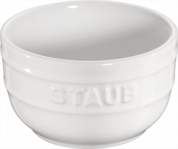 Staub Keramik 6 er Set Förmchenset Dipschale Dessertschale Schale weiß 8 cm Ceramic