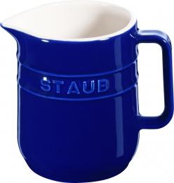 4er Set Staub Keramik Kännchen Milchkanne rund Dunkelblau 0,25L