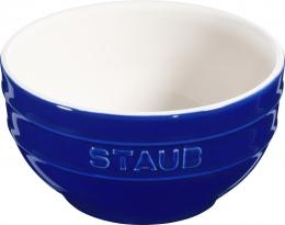 6er Set Staub Keramik Schüssel Schale Obstschüssel rund Dunkelblau 14cm