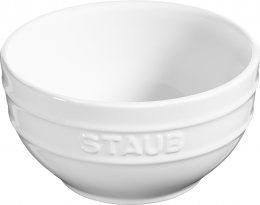 6er Set Staub Keramik Schüssel Schale Obstschüssel rund Reinweiß 14cm