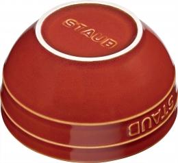Staub Keramik 6er Set Müslischale Dessertschüssel Rührschüssel, rund Kupferrot 12 cm