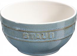 Staub Keramik 6er Set Müslischale Dessertschüssel Rührschüssel, rund Antiktürkis 12 cm