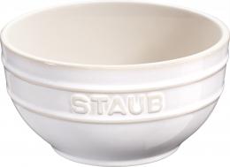 Staub Keramik 6er Set Obstschüssel Servierschüssel Rührschüssel, rund Elfenbeinweiß 14 cm