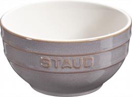 Staub Keramik 6er Set Obstschüssel Servierschüssel Rührschüssel, rund Antikgrau 14 cm