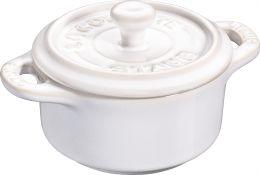 Staub Keramik 6er Set Dessertschale Auflaufform Mini Cocotte, rund Elfenbeinweiß 10 cm