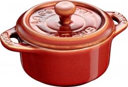 Staub Keramik 6er Set Dessertschale Auflaufform Mini Cocotte, rund Kupferrot 10 cm