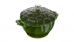 "STAUB Cocotte Artischocke, basilikumgrün, 22 cm La Cocotte 22 cm 8½ """