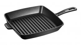 STAUB Grillpfanne, quadratisch, 26 x 26 cm schwarz Grillpfannen 26 cm