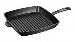 STAUB Grillpfanne, quadratisch, 30 x 30 cm schwarz Grillpfannen 30 cm