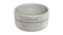 Staub hochwertiger Keramik Emailleschicht  Schüssel Weißer Trüffel 500 ml Servieren