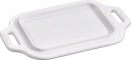 Staub Keramik Butterdose Weiß 18,7 x 12 cm