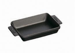 Staub Mini Teller Auflaufform 15x11 cm schwarz