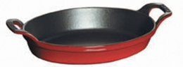 Staub Aufllaufform oval 24 cm kirsche