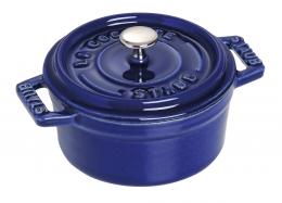 Staub rund Cocotte Bräter 28 cm dunkelblau rund