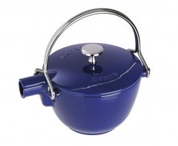 Staub Teekanne - Wasserkessel, rund Dunkelblau 16,5 cm 1,15 l