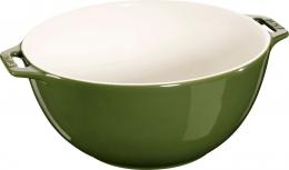 Staub Keramik Salatschüssel Obstschüssel Schüssel basilikumgrün 25 cm Ceramic