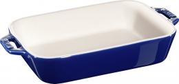 Staub Keramik Auflaufform Backform, rechteckig dunkelblau 20x16 cm Ceramic