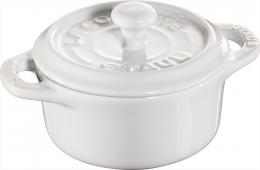 Staub Keramik Mini Cocotte, rund weiß 10 cm Ceramic