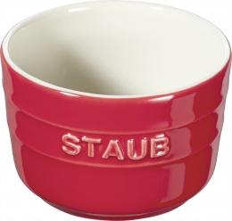 Staub Keramik 2er Set XS Mini Förmchen Ramekin Dessertschale rund Kirschrot 8 cm