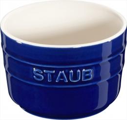 Staub Keramik 2er Set XS Mini Förmchen Ramekin Dessertschale rund Dunkelblau 8 cm