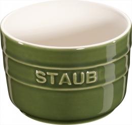 Staub Keramik 2er Set XS Set Mini Förmchen Ramekin Dessertschale rund Basilikumgrün 8 cm