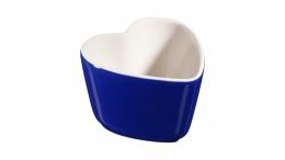 Staub Keramik XS 2er Set  Mini Förmchen Ramekin Dessertschale Dunkelblau 8 cm