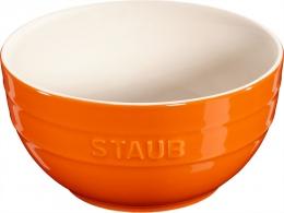 Staub Keramik Schale Schüssel Desertschale, groß orange 17 cm Ceramic