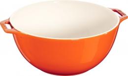 Staub Keramik Salatschüssel Obstschüssel Schüssel orange 25 cm Ceramic
