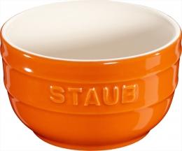 Staub Keramik 2 er Förmchenset Dipschale Dessertschale Schale orange 8 cm Ceramic