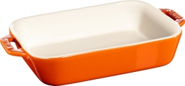 Staub Keramik Auflaufform Backform, rechteckig orange 20x16  cm Ceramic