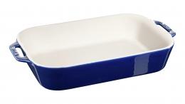 Staub Keramik Auflaufform Backform, rechteckig dunkelblau 34x24 cm Ceramic