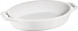 Staub Keramik Auflaufform Backform, oval weiß 17 cm Ceramic