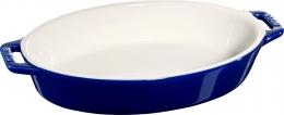 Staub Keramik Auflaufform Backform, oval dunkelblau 23 cm Ceramic