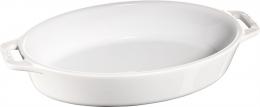 Staub Keramik Auflaufform Backform, oval weiß 23 cm Ceramic