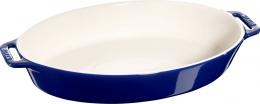 Staub Keramik Auflaufform Backform, oval dunkelblau 37 cm  Ceramic