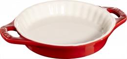 Staub Keramik Tarte-Form kirsche 13 cm Auflaufform Backform Ceramic