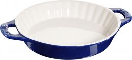 Staub Keramik Tarte-Form Tarteform Auflaufform Backform dunkelblau 28 cm Ceramic