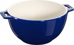 Staub Keramik Salatschüssel Salatschale Obstschale Schüssel rund Dunkelblau 18 cm
