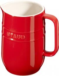 Staub Keramik Krug Karaffe rund Kirschrot 1L